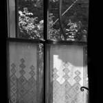 Rideaux brodés de la porte côté terrasse